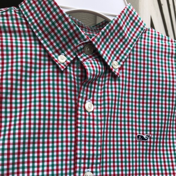 Vineyard Vines Other - Green, Red & White Checkered Shirt